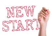 New Start written on the wipe board — Стоковое фото