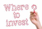 Where to Invest written on wipe board — Stock Photo