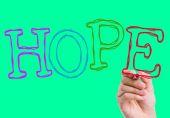 Hope written on wipe board — Stock Photo