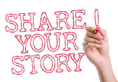Share Your Story written on wipe board — Stock Photo