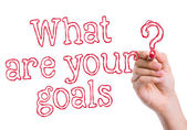 What are Your Goals written on wipe board — Stock Photo