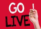 Go Live written on the wipe board — Stock Photo