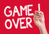 Game Over Leads written on the wipe board — Stock Photo