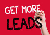 Get More Leads written on the wipe board — Stock Photo