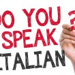 Do you speak Italian written on the wipe board — Stock Photo #66761041