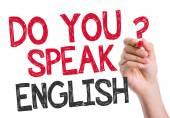 Do you speak English written on the wipe board — Stock Photo