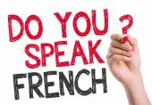 Do you speak French written on the wipe board — Stock Photo