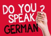 Do you speak German written on the wipe board — Stock Photo