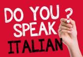 Do you speak Italian written on the wipe board — Stock Photo