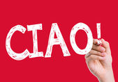 Ciao written on the wipe board — Stock Photo