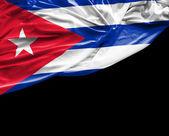 Cuban waving flag on black background — Stock Photo