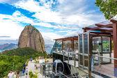 RIO DE JANEIRO, BRAZIL - CIRCA NOVEMBER 2014: Tourists at the Sugarloaf Mountain in Rio de Janeiro, Brazil. — Stock Photo