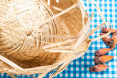 Straw Hat on the table (Festa Junina Theme) — Stock Photo