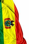 Bolivian waving flag on white background — Stock Photo