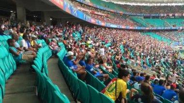 Crowed Arena Fonte Nova in Bahia — Stock Video