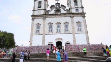 Igreja Nosso Senhor do Bonfim da Bahia church in Salvador — Stock Video
