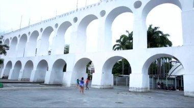 The Lapa Arch in Rio de Janeiro — Stock Video