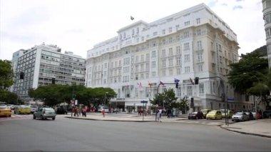 Copacabana palace hotel i rio de janeiro — Stockvideo