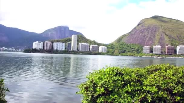 Rodrigo de freitas lagoon à rio de janeiro — Vidéo