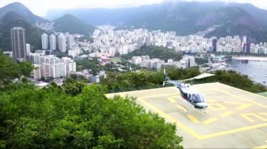 Helicopter in Rio de Janeiro — Stock video
