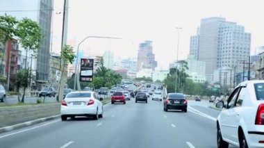 The famous Radial Leste Avenue in Sao Paulo — Stock Video