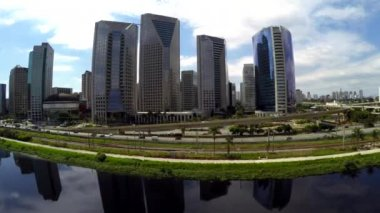 Marginal Pinheiros in Sao Paulo — Stock Video