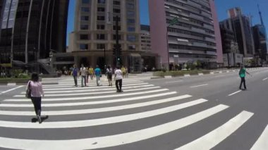 Paulista Avenue in Sao Paulo — Stock Video