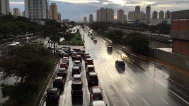 """Słynny """"Radial Leste"""" w Sao Paulo — Wideo stockowe"""