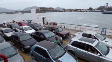 Car Ferry Boat in Sao Paulo — Stock Video