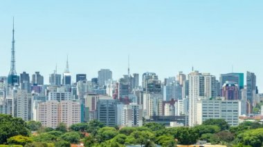 горизонт сан-паулу — Стоковое видео