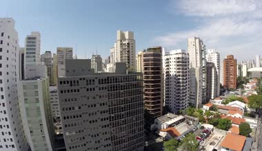 Aerial view of Sao Paulo — Stock Video