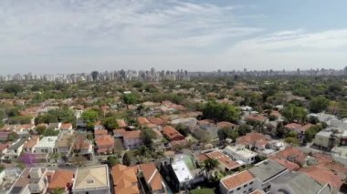 Aerial view of a rich area in Sao Paulo — Stock Video