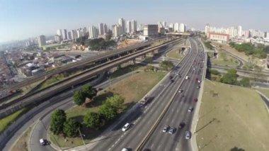 サンパウロの有名な「放射状レステ」 — ストックビデオ
