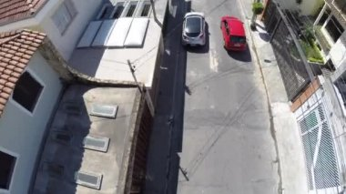 Aerial view of a road in Sao Paulo — Stock Video