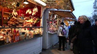 Noel pazarı Paris — Stok video