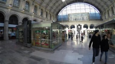 Gare du Nord Station in Paris — Stock Video