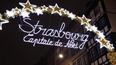 Strasbourg on Christmas time — Stock Video
