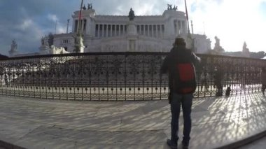 National monument a Vittorio Emanuele II in Rome — Stock Video