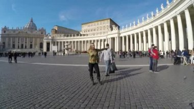 Tourists in the Vatican City — Stock Video