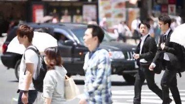 Passants à tokyo — Vidéo