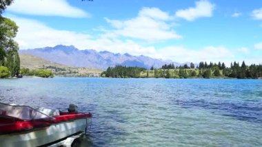 Wakatipu lake in New Zealand — Stockvideo