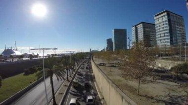 Barselona Olimpiyat Limanı — Stok video
