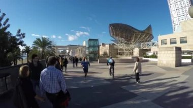 Porto Olímpico de barcelona — Vídeo stock