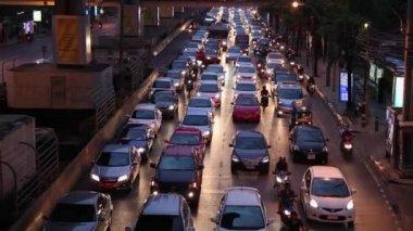 Traffic in Bangkok city — Stock Video