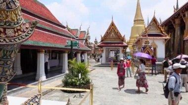 Grand palace Bangkok ziyaret — Stok video