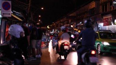 Nightlife of Bangkok city in Thailand — Stock Video