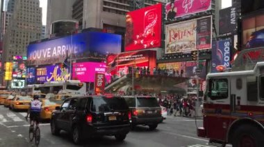 The famous Times Square in New York — Vidéo
