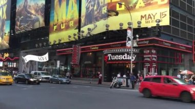 Times Square in New York City — Stock Video