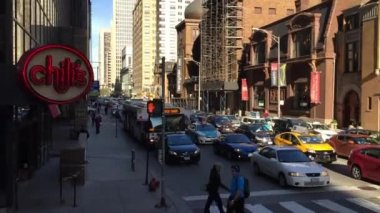 The downtown of Chicago in USA — Stock Video