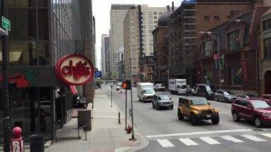 De binnenstad van chicago stad — Stockvideo